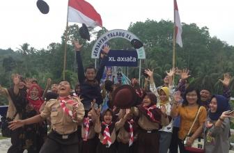 XL Axiata Bantu Dirikan Jembatan di Pringsewu Lampung