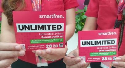 Kartu Perdana Smartfren Unlimited Berbonus Cashback Tokopedia