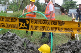 XL Axiata Bangun Ratusan KM Fiber Optic di Kalimantan