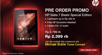 Buruan, Pre-order HP Slate 7 Beats Special Edition Segera Ditutup