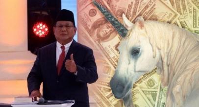 Prabowo Tanyakan Arti Unicorn, Begini Jawaban Kocak Netizen