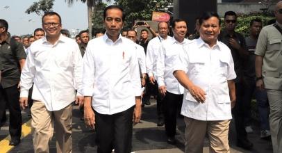 Jokowi Bertemu Prabowo, Tagar #03PersatuanIndonesia Jadi Trending Topic di Twitter
