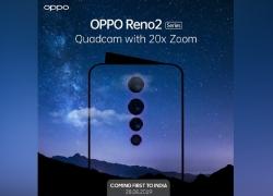 Bakal Segera Dirilis, Oppo Reno 2 Dibekali Empat Kamera dan Zoom 20x