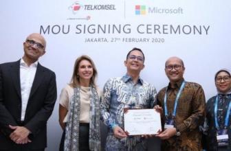 Telkomsel dan Microsoft Kerjasama untuk IoT dan AI