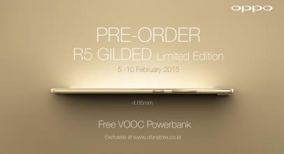 Oppo Buka Pre-order R5 Gilded Edition