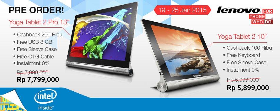 Pre-order Dua Lenovo Yoga Tablet 2 di Bhinneka.com