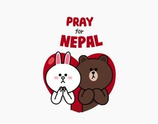 Ikut Donasi dengan Stiker LINE Pray for Nepal