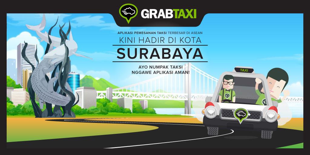 GrabTaxi Hadir di Surabaya!