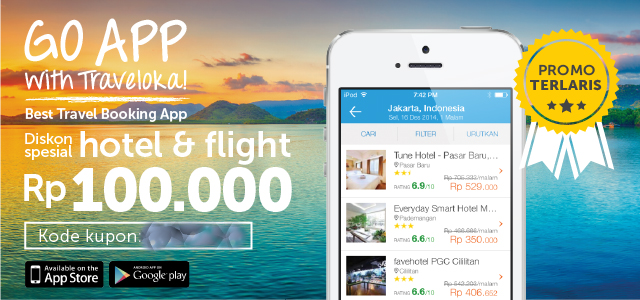 Traveloka Go App Diskon 100 Ribu Babak II