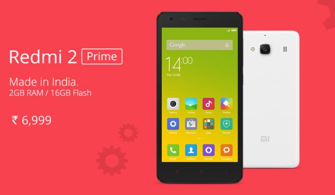 Hari ini, Xiaomi Redmi 2 Prime Hadir di Indonesia