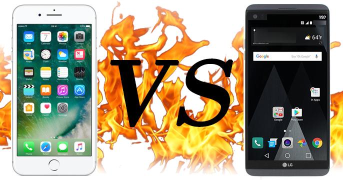 iPhone 7 Plus VS LG V20