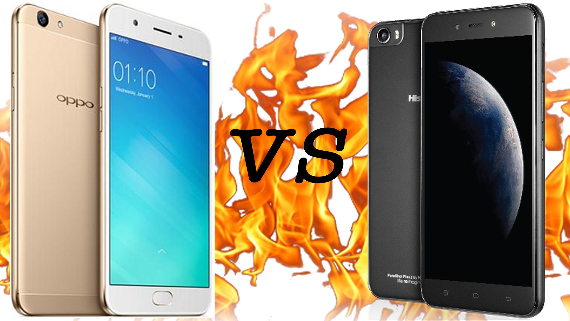 Oppo F1s VS HiSense PureShot+ 2