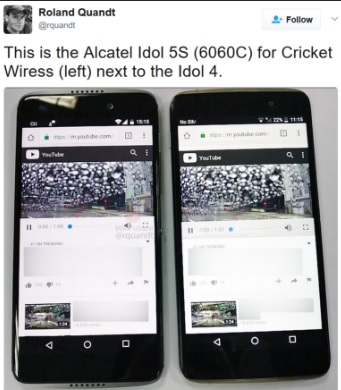 Muncul Bocoran Alcatel Idol 5S Yang Bersanding dengan Pendahulunya
