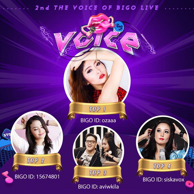Inilah Pemenang The Voice of BIGO LIVE Indonesia Season 2