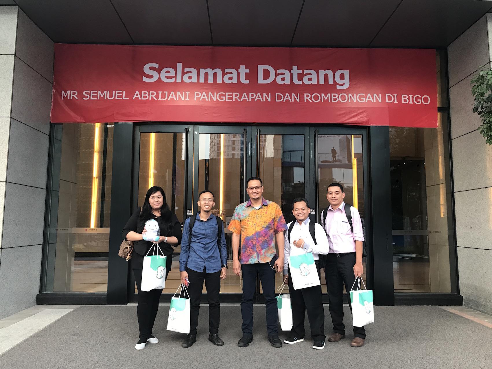 Kementerian Komunikasi dan Informatika RI berkunjung ke Markas BIGO