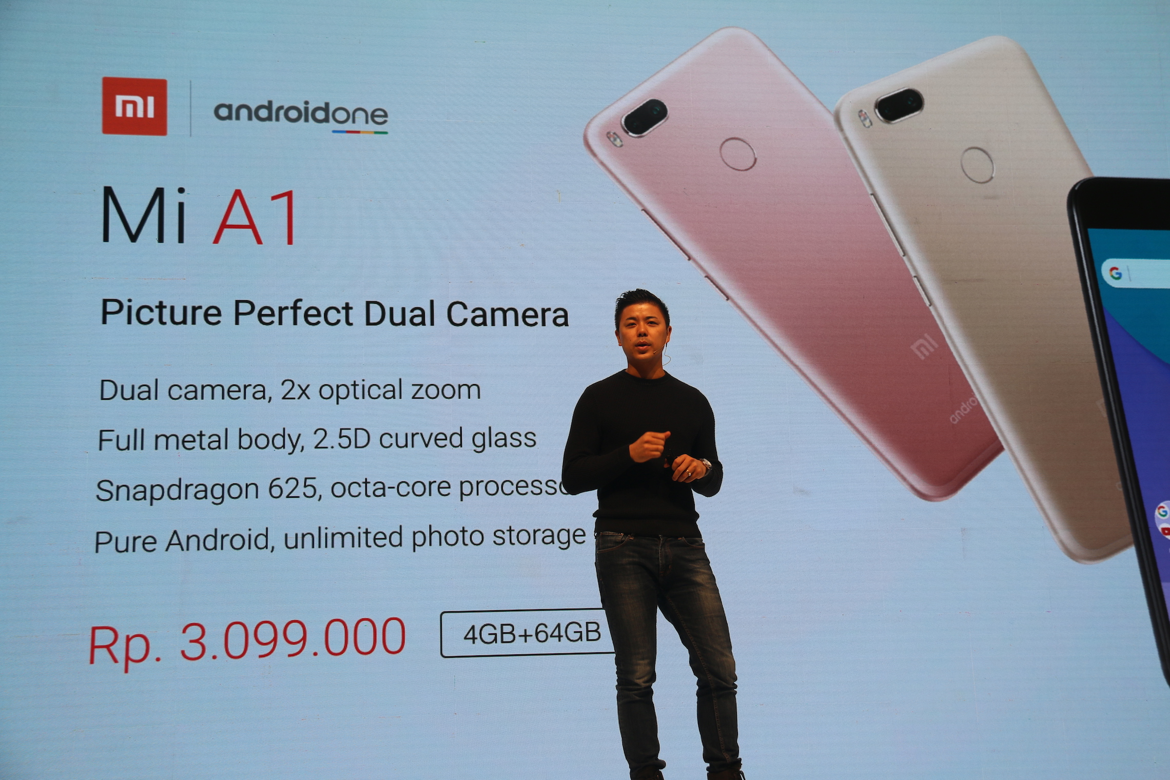 Xiaomi Kenalkan Mi A1 di Indonesia