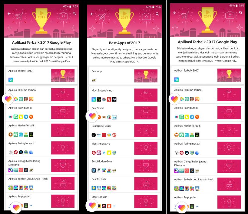 """""""LIKE"""" Terima 3 Penghargaan Google Play Awards 2017"""