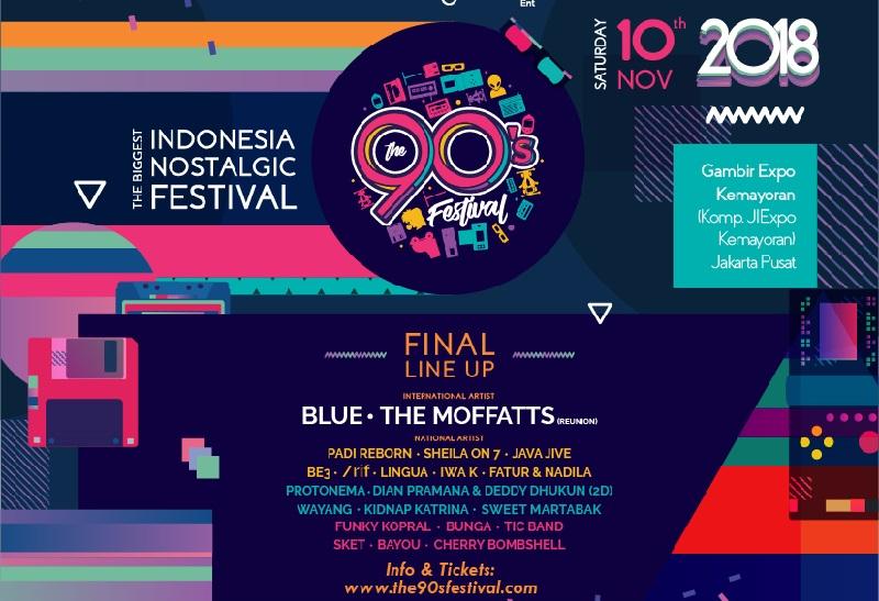 The 90's Festival 2018, Hadirkan Kenangan di Era '90-an