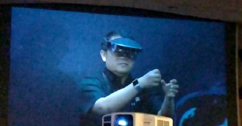 Menkominfo Rudiantara Ujicoba 3D Augmented Reality Berbasis 5G Indosat