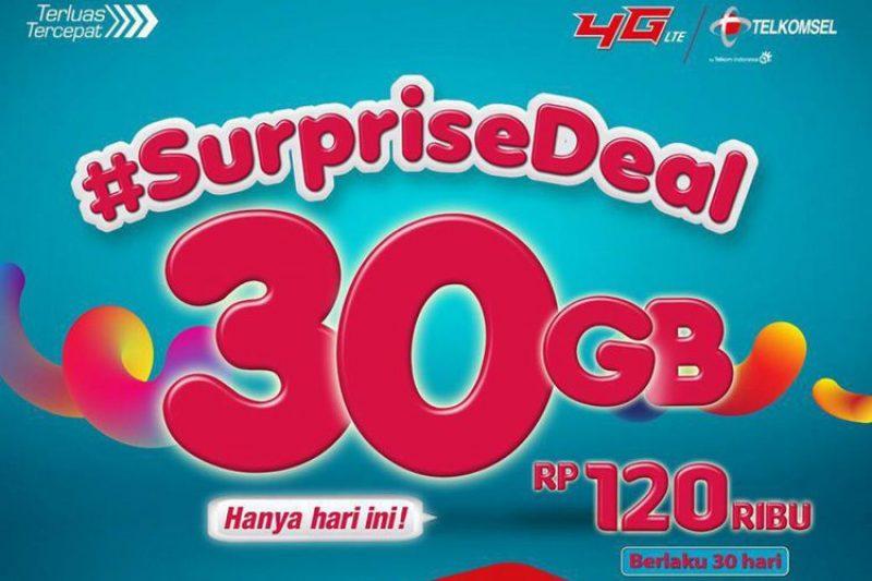 Cuma Hari Ini, Paket Data 30 GB Telkomsel Dibanderol Rp 130 Ribu
